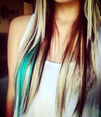 hairstyles with teal highlights the 25 best teal hair streaks ideas on pinterest teal