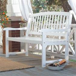 Curved Outdoor Patio Furniture White Patio Bench Wood Outdoor Yard Deck Park Porch Garden Furniture Curved 4 Ft Ebay