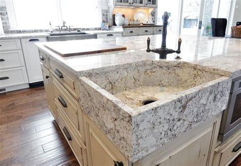 white springs fabricated granite apron sink kitchen