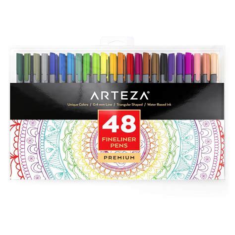 Arteza Stylo Gel by Arteza Feutres 224 Pointes Fines Pour Coloriage Stylos Fineliner 0 4mm 48 Couleurs Uniques