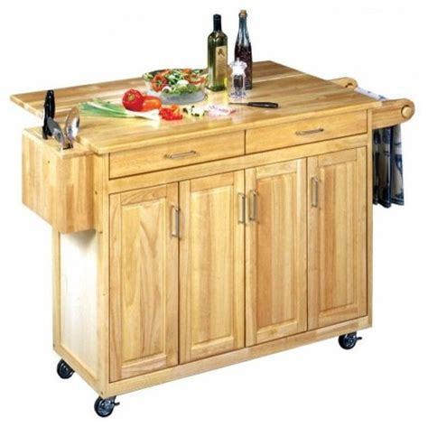 the benton kitchen cart with optional stools