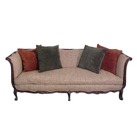 french sofas for sale chic french country walnut sofa tussah silk upholstery
