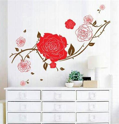 Wall Sticker Stiker Dinding Bunga Merah Tangkai jual wallsticker big stiker dinding dekorasi kamar bunga mawar gegevape