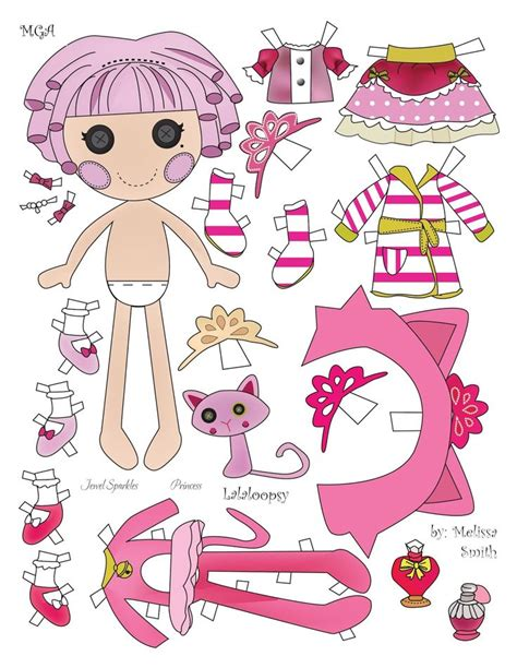 design a lalaloopsy doll miss missy paper dolls jewel sparkle paper dolls 11