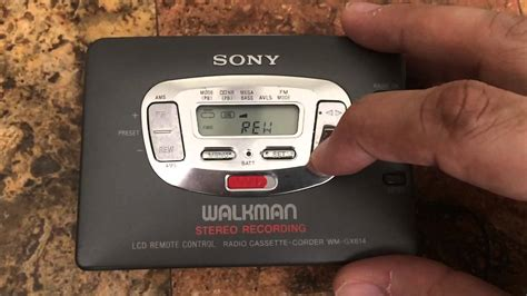 cassette player walkman sony walkman wm gx614 auto cassette player