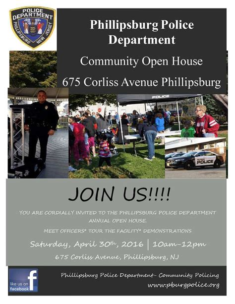 phillipsburg housing authority phillipsburg police department community open house phillipsburg new jersey