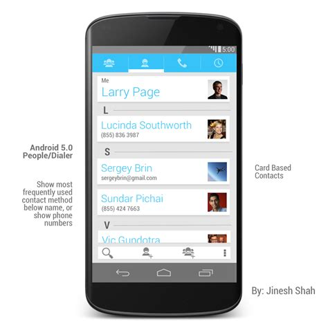 android 5 0 phones android 5 0 design concept by jinesh shah part 2 multitasking and dialer concept phones