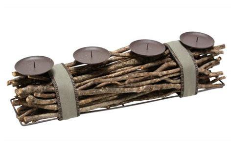kerzenhalter 4 kerzen metall kerzenhalter holz 228 ste f 252 r 4 kerzen mit metallhaltern
