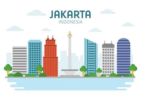 indonesia design vector free landmark jakarta vector download free vector art