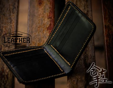 Handmade Leather Biker Wallets - handmade carved wallet elephant god makkashop