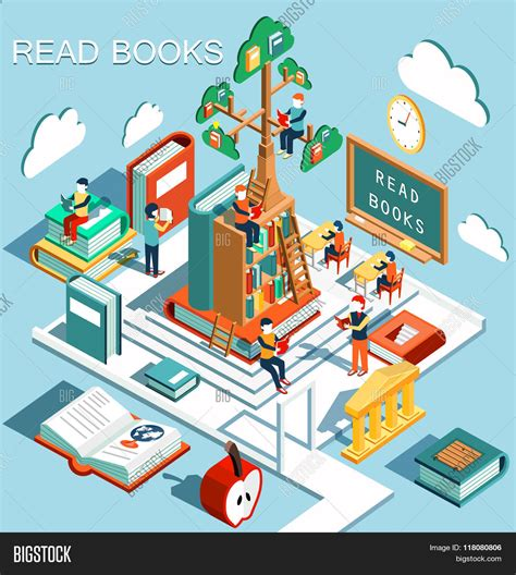 Uws Library Unit Outlines by Concept Learning Read Books Vector Photo Bigstock