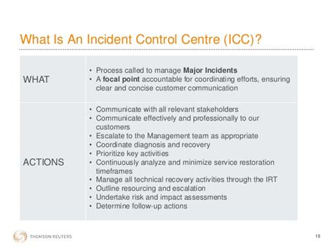 Managing A Major Incident Incident Management Communication Template