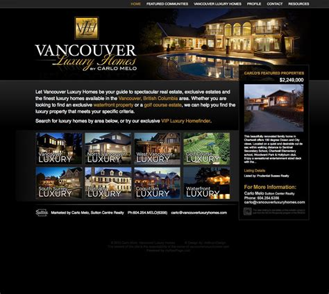 custom luxury real estate website on myrealpage cms