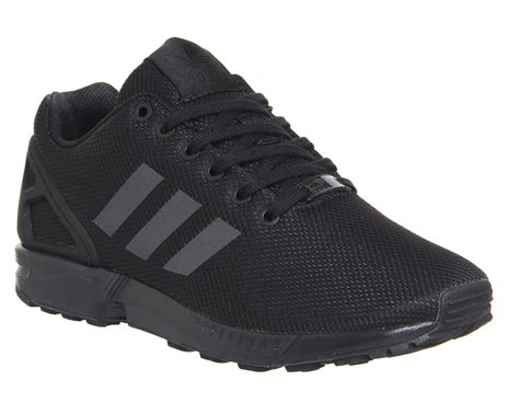 mens black adidas shoes mens adidas zx flux black trainers shoes ebay