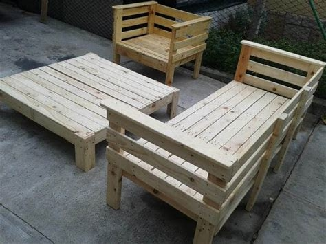 Harvest Table With Bench Pallet Outdoor Furniture Set 101 Pallets