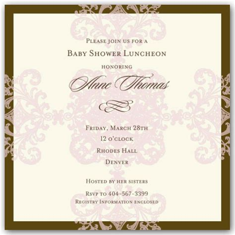 What To Write On A Baby Shower Invitation by What To Write In A Baby Shower Invitation Afoodaffair Me