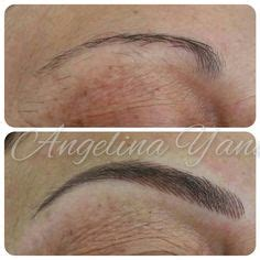 Eyeliner Tattoo Townsville | before and after picture of lip liner tattooed on after