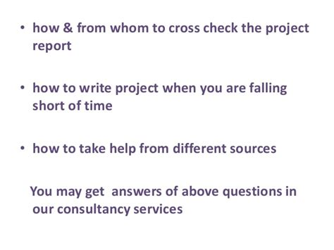 Mba Project Report On Just In Time by Mba Project Report Writing Consultant