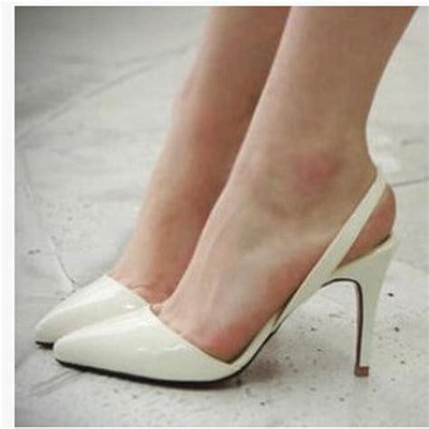 Sepatu High Heels Glitter 9cm aliexpress buy point toe patent leahter high
