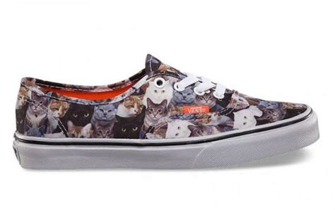sneakers with cats on them aspca vans cat shoes neatorama