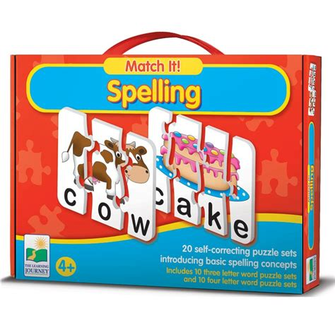 Learning Puzzle spelling match it learning puzzle educational toys planet