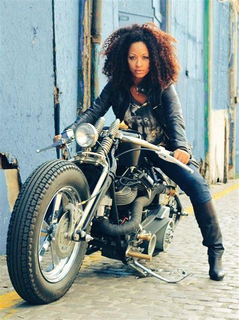 lady biker hairstyles black women on motorcycles motorsport etc pinterest