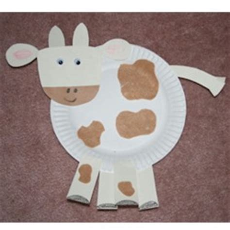 Paper Plate Cow Craft - paper plate cow