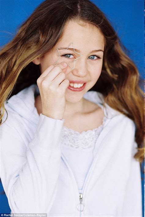 legal aged models miley cyrus modelling shoot when she was 11 year old girl