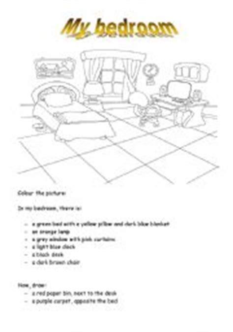 Bedroom Description Exercises Teaching Worksheets The Bedroom