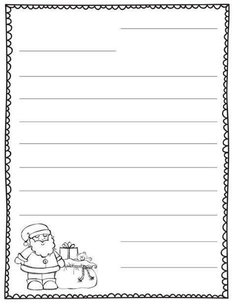 letter to santa template free printable black and white best photos of santa letter template blank blank letter