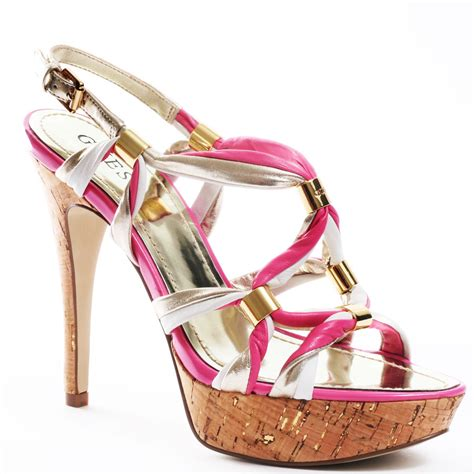 guess s pink knotted pink multi leather for 99 99