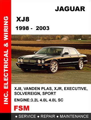 jaguar xj xj8 xjr 1998 1999 2000 2001 2002 2003 factory repair service manual other books