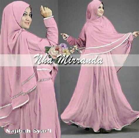 Jual Gamis Syari Termurah Belina Dress jual gamis batik najibah nha mirrand syari bergo pink pusat gamis termurah di lapak incase 1