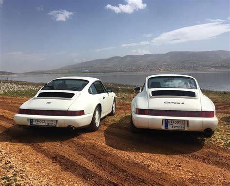 porsche 964 white porsche 964 white pair 911 carrera sundayride