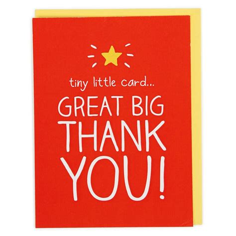 A Great Big Thankyou by Tiny Card Big Thank You Card Paperchase