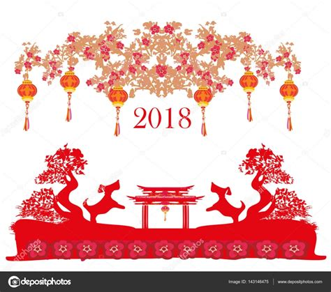 new year 2018 china highlights tarjeta de feliz a 241 o nuevo chino 2018 a 241 o perro