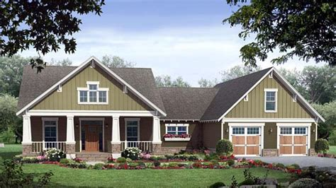 bungalow cottage house plans single story craftsman house plans craftsman style house