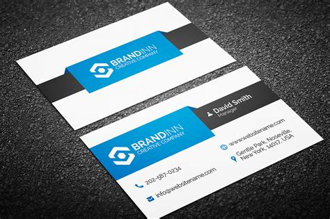 cool business card templates simple creative business card template 12 graphic