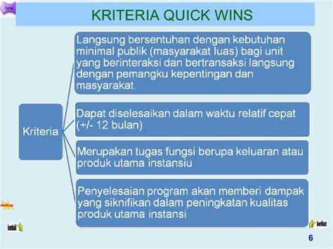 format laporan quick wins pelaksanaan quick wins