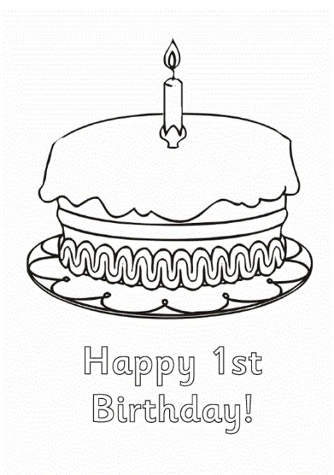 coloring pages first birthday 1st birthday cards coloring pages for kids coloring point