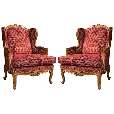 Bergere Chairs For Sale pair of louis xv style bergere chairs for sale at