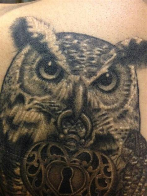 tattoo owl realistic awesome realistic owl tattoo owl coffee pinterest