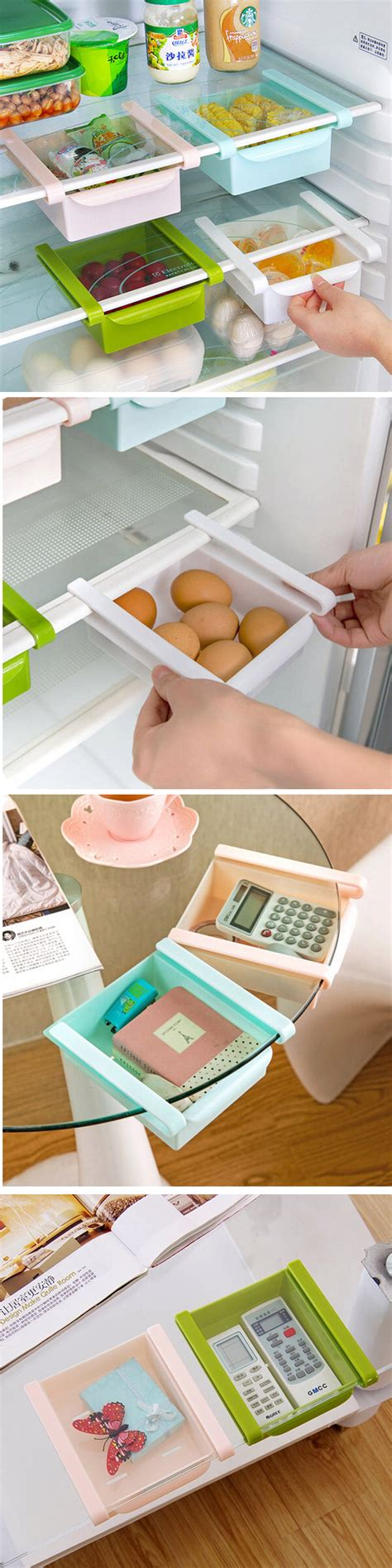 plastic kitchen refrigerator fridge storage rack freezer