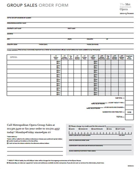 sales order form template sle sales order form 11 exles in word pdf