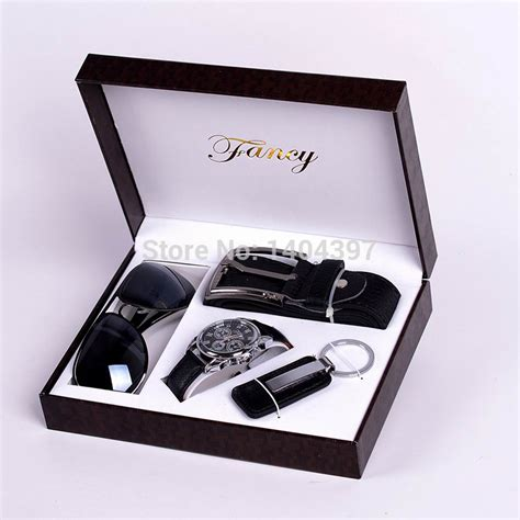 men birthday gift suit package car key ring sunglasses