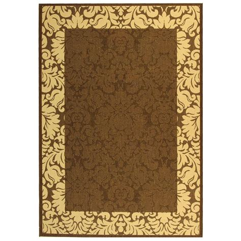8 ft outdoor rug foss hobnail chocolate 6 ft x 8 ft indoor outdoor area rug cn19n30pj1h1 the home depot