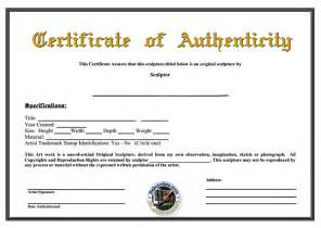 certificate of authenticity templates certificate of authenticity template of certificate of