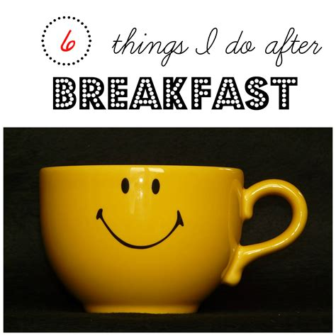 beatfeast after 6 things i do after breakfast daily routines series part