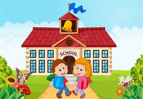 imagenes niños que van ala escuela felices los ni 241 os peque 241 os van a la escuela archivo