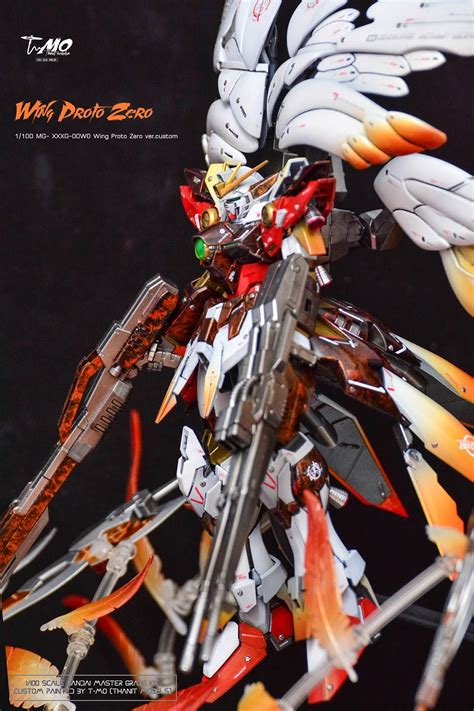 Gundam Wings Black Silver gundam mg 1 100 wing proto zero customized build